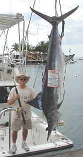 We caught the biggest striped marlin of the Decade! 186 lbs.